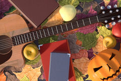 Autumn illustration in 3D Royalty Free Stock Photography