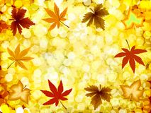 Autumn illustration gold background. Vector Royalty Free Stock Images