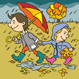 Autumn illustration Royalty Free Stock Image