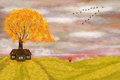 Autumn illustration Stock Photography