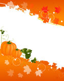 Autumn illustration with pumpkins and leaves Royalty Free Stock Photo