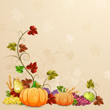 Autumn  illustration for  thanksgiving day. Royalty Free Stock Photos