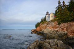 Autumn image of Acadia National Park in New England, Maine. Autumn image of bass harbor lighthouse Acadia National Park in New England Royalty Free Stock Photo