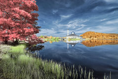 Autumn InfraRed - reflexion på den Darul quranen Royaltyfri Bild
