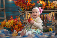 In autumn interior Stock Image