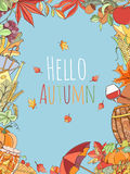 Autumn invitation card. Royalty Free Stock Photo
