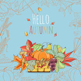 Autumn invitation card. Royalty Free Stock Photography