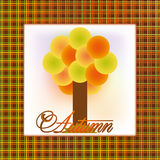 Autumn invitation card Royalty Free Stock Photos