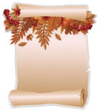 Autumn invitation card in old style Royalty Free Stock Images