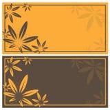 Autumn invitation cards Royalty Free Stock Photo