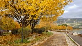 Autumn in Ioannina city Epirus Greece Royalty Free Stock Photography