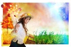 Autumn iron grass Stock Image