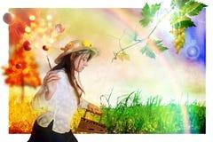 Autumn iron grass vector illustration