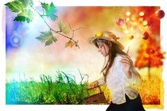Autumn iron grass royalty free illustration