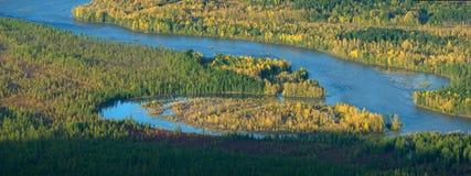 Autumn island Stock Photos