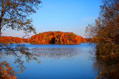 Autumn Island Royalty Free Stock Photos