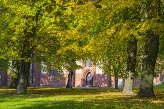 Autumn on the island of Kant in the Kaliningrad Stock Photo