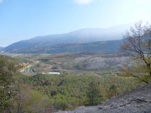 Autumn italian landscape in trentino Royalty Free Stock Image