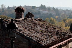 Autumn on the italian roofs Royalty Free Stock Image
