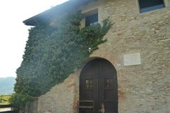 Autumn in italy - farmer house. Farmer house in Italy near the lake Como - Lecco - Montevecchia stock images