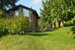 Autumn in italy - farmer house. Farmer house in Italy near the lake Como - Lecco - Montevecchia stock image