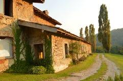 Autumn in italy - farmer house. Farmer house in Italy near the lake Como - Lecco - Montevecchia royalty free stock photos
