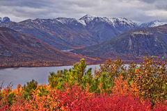 Autumn. Jack London's lake. The Magadan area. Kolyma Stock Photo