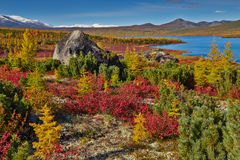 Autumn. Jack London's lake. The Magadan area. Kolyma IMG_4094 Stock Images