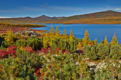Autumn. Jack London's lake. The Magadan area. Kolyma IMG_4102 Stock Photography