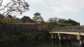 Autumn in Japan The color change Osaka Castle Royalty Free Stock Photo