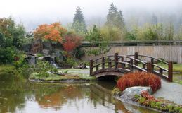 Autumn Japanese Garden Royalty Free Stock Photography