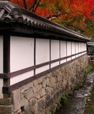 Autumn Japanese temple stock photography