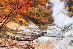 Autumn at Jigokudani hell valley, Hokkaido, Japan Royalty Free Stock Photography
