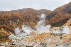 Autumn at Jigokudani hell valley, Hokkaido, Japan Stock Images