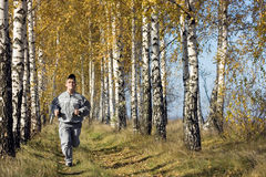 Autumn jog Royalty Free Stock Images