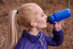 Autumn jogging Royalty Free Stock Photos