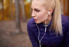Autumn jogging Stock Image