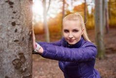 Autumn jogging Stock Photography
