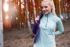 Autumn jogging Royalty Free Stock Image
