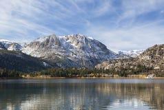 Autumn at June Lake in California Royalty Free Stock Image