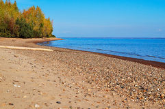 Autumn Kama river. Beautiful autumn river Kama, about Tchaikovsky Stock Images