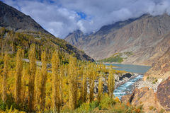 Autumn at Khalti Lake. Ghizer Valley. Northern Pakistan. Stock Photography