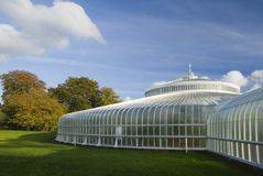 Autumn kibble. Glasgow's newly refurbished Kibble Palace in autumn sunshine royalty free stock image