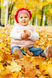 Autumn kid Stock Photos