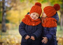 Autumn Kids Fotografia Stock