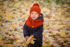 Autumn Kids Royalty-vrije Stock Afbeeldingen