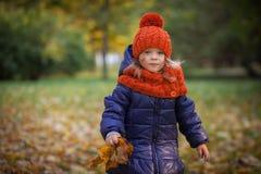 Autumn Kids Royalty-vrije Stock Fotografie