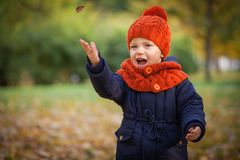 Autumn Kids Royalty-vrije Stock Afbeelding