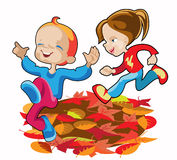 Autumn Kids Images libres de droits