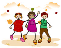 Autumn Kids Stock Images